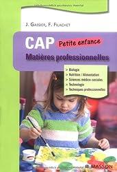 Matières professionnelles : CAP Petite enfance