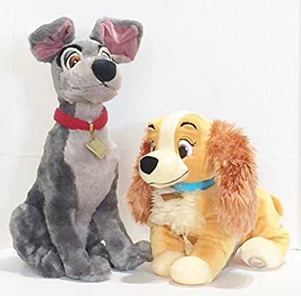 Amazon Com Lady And The Tramp Plush Bundle 14 Lady And 16 Tramp Toys Games