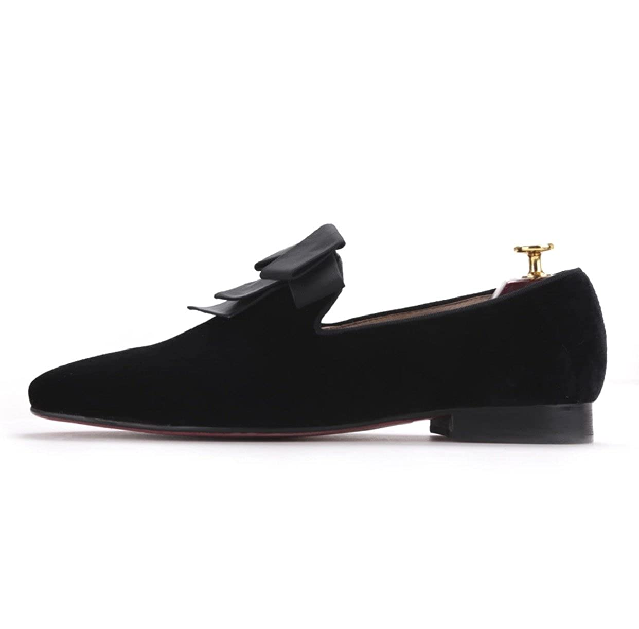 24d4db4c6f458 Amazon.com | Resso Roth Men Black Velvet Loafers Slip On Loafers Shoes with  Ribbon | Loafers & Slip-Ons