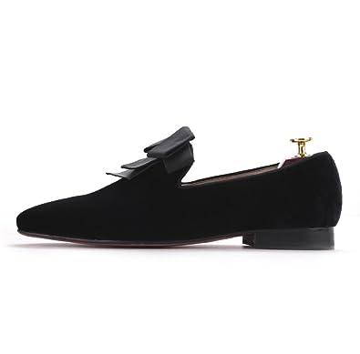 ecdb42502c779 Amazon.com | Resso Roth Men Black Velvet Loafers Slip On Loafers ...