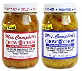2 Pack - Mrs. Campbell's Chow Chow - One 16oz Jar of Each: Hot and Sweet