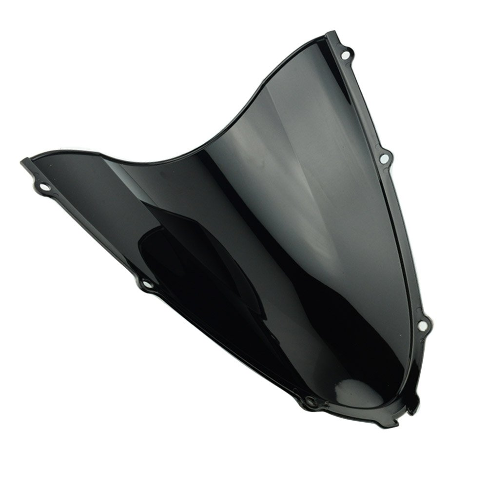 3 Color Motorcycle Windshield Screen Panel Cowl Fairing Windshield WindScreen Double Bubble for Kawasaki Ninja ZX14//ZX14R 2006-2016 2007 2008 2009 2010 2011 2012 2013 2014 2015 Iridium