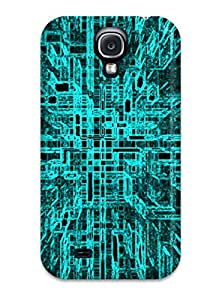 Hot Style WwFkKHN3146ejHFl Protective Case Cover For Galaxys4(futuristic Digital Green )