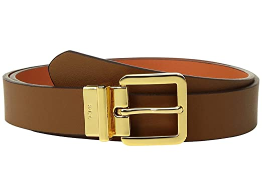 ec84eb5f75 LAUREN Ralph Lauren Women's Dryden Reversible Casual Belt Brown MD ...