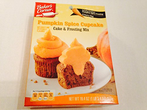 Baker's Corner Pumpkin Spice Cupcake Cake & Frosting Mix 19.40 Oz (Spice Cupcakes Pumpkin)