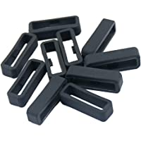 Baoblaze 10Pcs Strap Loop Rubber Clasp Ring Loop Fastener Replacement for Garmin Fenix Series Watch Band