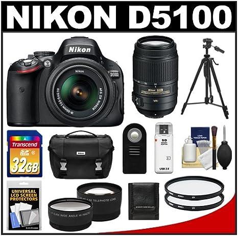 Nikon D5100 Digital SLR Cámara y 18 – 55 mm G VR DX AF-S Zoom lente
