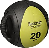 Aeromat Dual Grip Power Medicine Ball, 9cm/20-Pound, Black/Olive