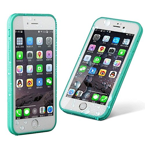 iPhone 6S plus Waterproof Case, KAMII iPhone 6 plus Waterproof Case, Dust Proof, Snow Proof, Shock Proof Case, Heavy Duty Protective Carrying Cover for iPhone 6S plus, iPhone 6 plus - 6 Case Orange Neon Plus Iphone