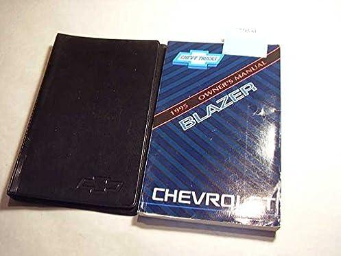 1995 chevrolet blazer owners manual chevrolet amazon com books rh amazon com 1994 Chevrolet Blazer 1995 Chevrolet S10 Blazer