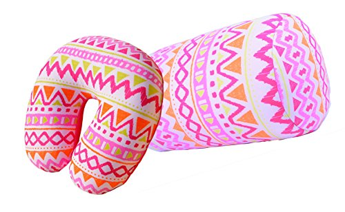 Bookishbunny 2pcs Micro Bead Set U Shaped Neck Travel Pillow 12