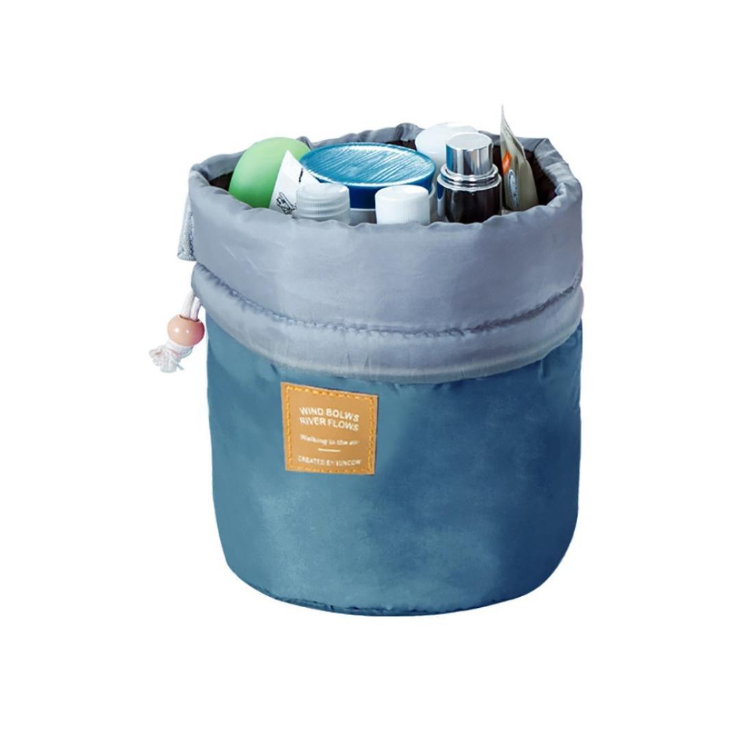 Storage Toiletry Bag ,IEason Clearance Sale! Barrel Travel Cosmetic Drawstring Wash Makeup Organizer Storage Toiletry Bag (C)