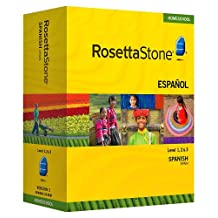 Rosetta Stone Homeschool Spanish (Spain) Level 1-3 Set including Audio Companion