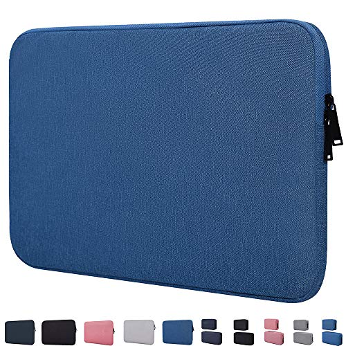 14 Inch Water Resistant Laptop Sleeve Case Compatible with Acer Chromebook 14,Macbook Pro 15 Inch,HP Stream 14/Pavilion X360 14,HP Chromebook 14, LG gram 14, ASUS VivoBook, 14-15 Inch Laptop Bag,Blue