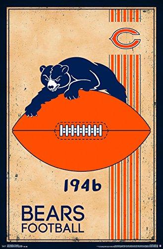 Trends International Chicago Bears Retro Logo Wall Poster