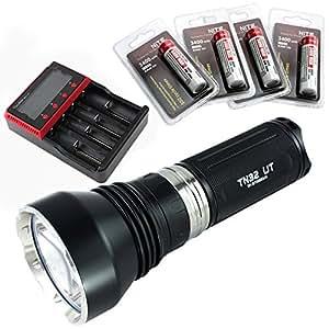 ThruNite TN32 UT 1150 Lumen CREE XP-L HI LED Thrower Flashlight Black(TN32 UT CW + MCC-4S + 34004)