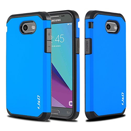 Galaxy J3 Emerge Case, J&D [ArmorBox] [Dual Layer] Hybrid Shock Proof Protective Rugged Case for Samsung