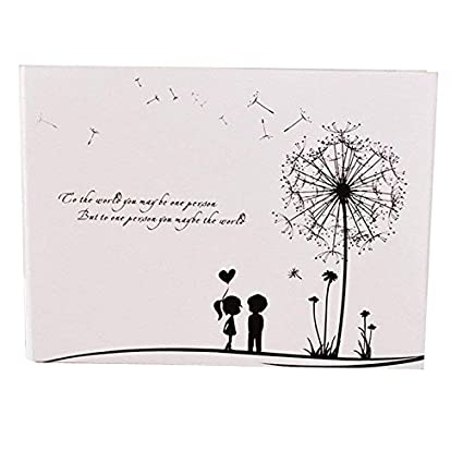 Scrapbook Vintage Photo Albums Dandelion Printed Surface Ideal Valentines Day Gifts Birthday Wedding Guest Book Movie Record Board
