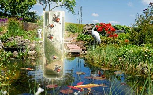 Mauk Koi Und Goldfisch Aussichtsturm 100 40x35 Cm Fish Tank Tube Amazonde Garten