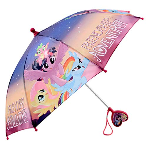 Hasbro Little Girls My Little Pony Character Rainwear Umbrella, Purple,  Ages 3-7