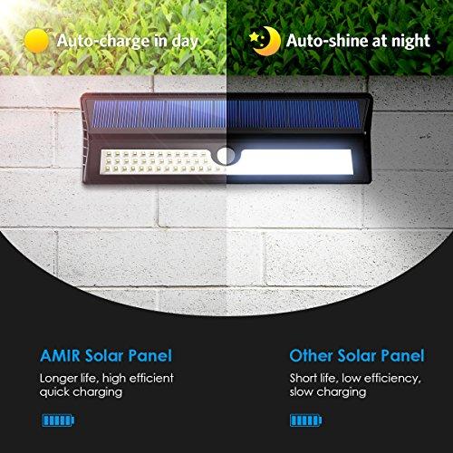 Garage Door Sensor Lights Off: AMIR Solar Lights Outdoor, 77 LED Super Bright Motion