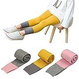 BOOPH 3 Pack Baby Girls Legging Pant Footless Knit Toddler Tight Pantyhose Stockings