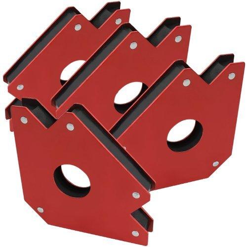 Large 4″ Angle Welding Magnet Support Jig Holder (4-Pack) For Sale
