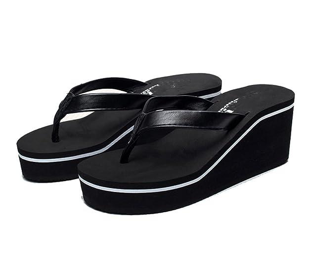 Boowhol Damenschuhe Zehentrenner Strandschuhe Atmungsaktiv Komfort Flip-flops (39 EU, Schwarz Leopard)