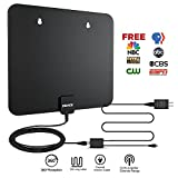 TV Antenna, DOACE HDTV Antenna Indoor Amplified Digital TV Antenna 50 Mile Range with Detachable Amplifier Signal Booster, USB Power Supply and High Performance Coaxial Cable(Black)