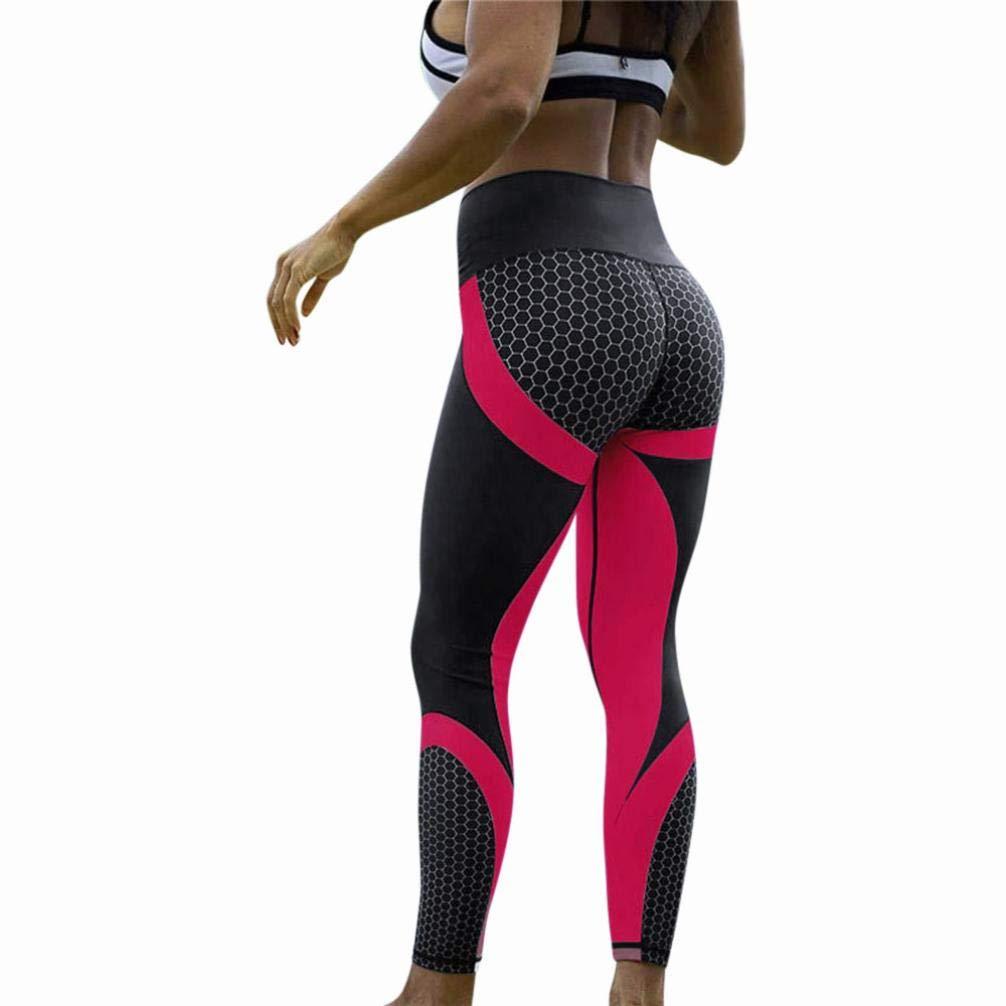 032e8a13f STRIR Mallas Deporte Mujer Leggins Pantalones Deportivos Elásticos de  Cintura Alta Mujeres de Cintura Alta Yoga Fitness Polainas Correr Gimnasio  Pantalones ...