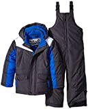 Rothschild Little Boys' Toddler Side Panel Snowsuit, Charcoal, Large/4T