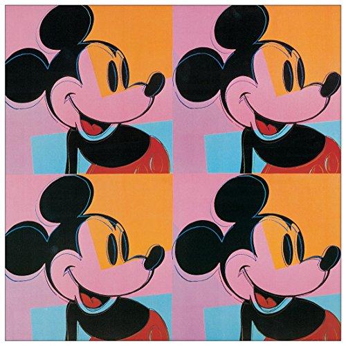 Warhol Mickey Mouse - Artopweb EC21513 Warhol-Mickey Mouse Decorative Panel, 19.5