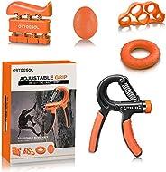arteesol Grip Strength Forearm Workout Trainer Kit 5 Pack,Adjustable Hand Grip Strengthener(11-132lbs),Resisit