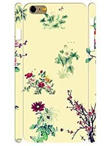 Colorful Individualized Ink Floral Durable Phone Aegis Case for Iphone 6 Plus 5.5 Inch