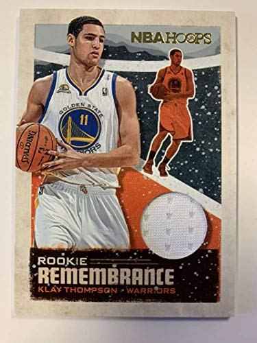 2019-20 Panini Hoops Rookie Remembrance Jersey/Relic Winter Basketball #55 Klay Thompson Golden State Warriors Official Holiday/Christmas Parallel NBA Trading Card (Nba 2019 Jersey Christmas)