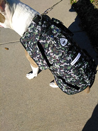 WEIGHTED ANIMAL VEST (Small: 14lbs. Dog Size: 20-40lbs., Camouflage) by CANINE WEIGHT SET