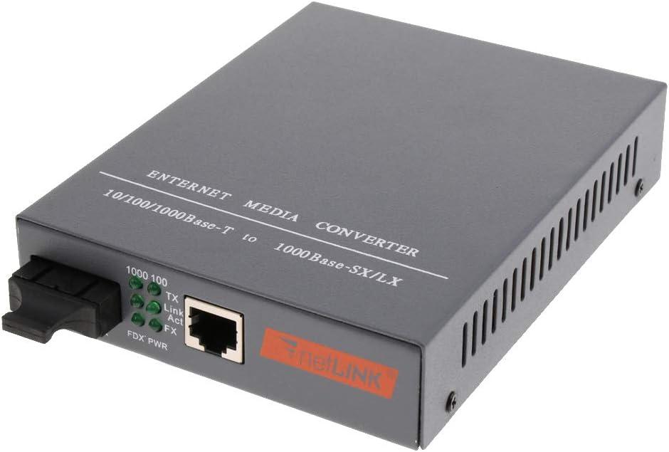 Transceptor De Fibra /óptica De 1000Mb S Instalar Internamente Gazechimp Convertidor De Medios Ethernet De Fibra Dual SC Multimodo