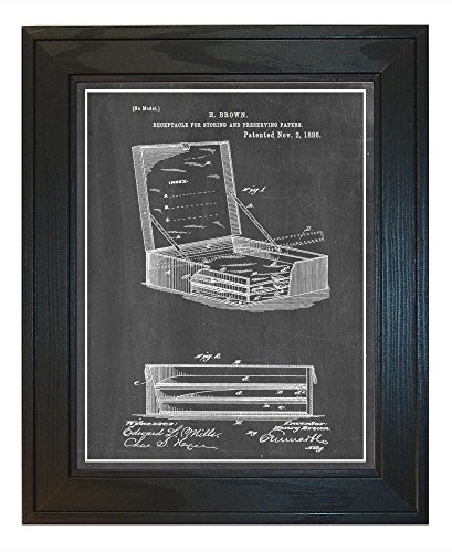 Receptacle For Storing And Preserving Paper Patent Art Chalk