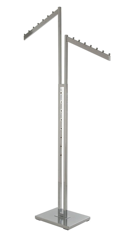 Econoco K24 2-Way with Slant Blade Arms, Square Tubing, Chrome