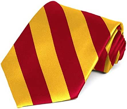 Red and Golden Yellow Striped Tie