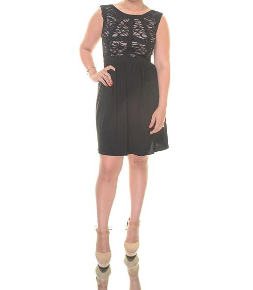 Amazon.com  Morgan   Co Women s Lace Black Nude Dress Size 9 10 ... a1f29c01e