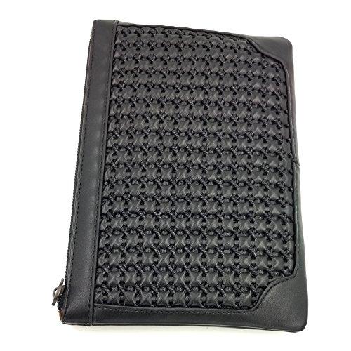 ToMill Echtes Leder Handarbeit geflochtene Kupplungen Herren Business Woven Zipper Handgelenktasche