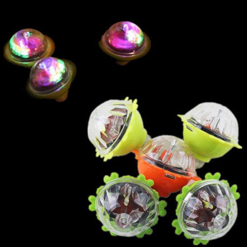 HOT Sale Colourful Light Flash Gyro Peg-Top Spinning Tops Kids Children Toy