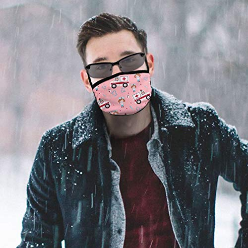 YongColer Unisex Breathable Reusable Mouth Mask Adjustable Anti Dust Face Mouth Mask Adjustable Earloops Ambulance Nurse Medical Instruments Pink Face Mask for Cycling Camping Travel Outdoor