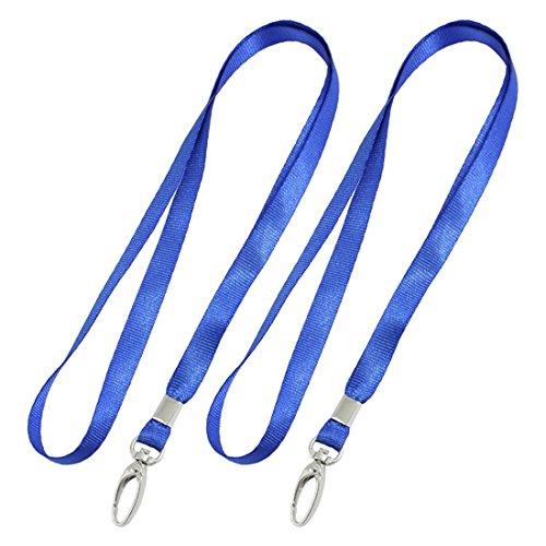 Neck Lanyards Cords Straps (2 Pcs Blue Nylon Neck Strap Lobster Clasp Key Lanyard String)