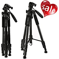 VNEED Camera Phone Tripod 68 Inch Aluminium Lightweight Portable for DSLR SLR DV Cellphone with Carrying Bag