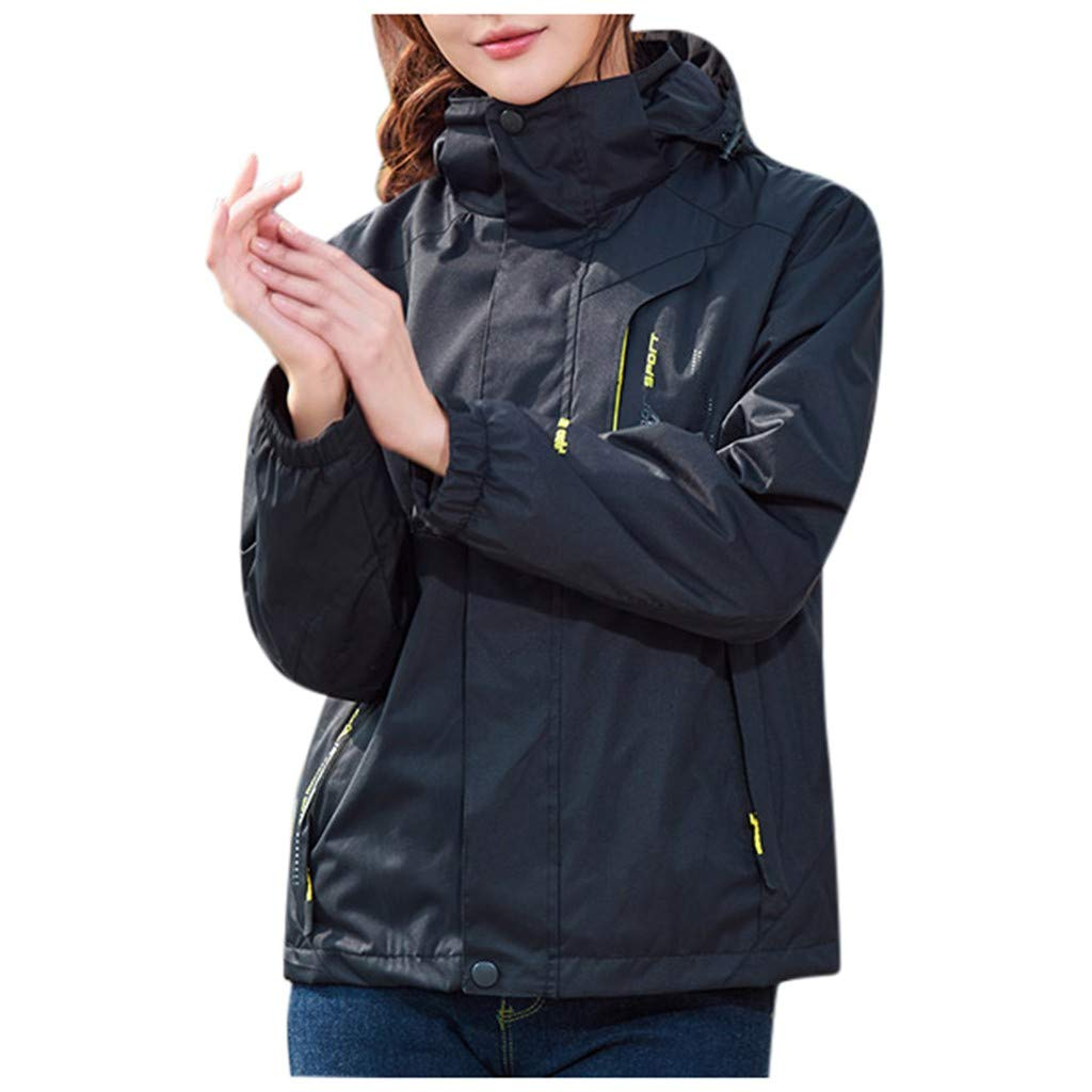 Oksale Street wear Women Waterproof Hoodie Detachable Breathable Sport Outdoor Coat Jacket (Black,L) by Oksale