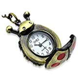 """My Daily Styles Fashion Alloy Stainless Steel Ladybug Charm Locket Pocket Watch Necklace, 31"""""""