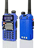 Baofeng Blue BF-F9 V2+ 8Watt Tri-Power (4/6/8w) (USA Warranty) Dual-Band 136-174/400-520 MHz FM Ham Two-way Radio Transceiver