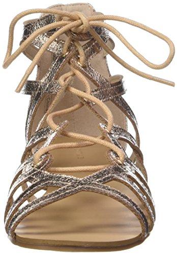 gold Sandales Or Or plates rose Pimkie Femme brillant lacets BI8wOdwxnq